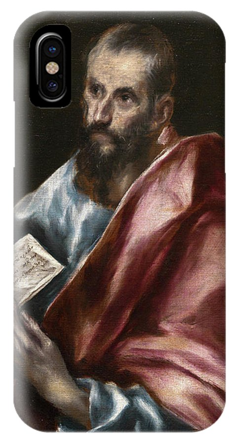 Apostle IPhone X Case featuring the painting Saint Paul by El Greco