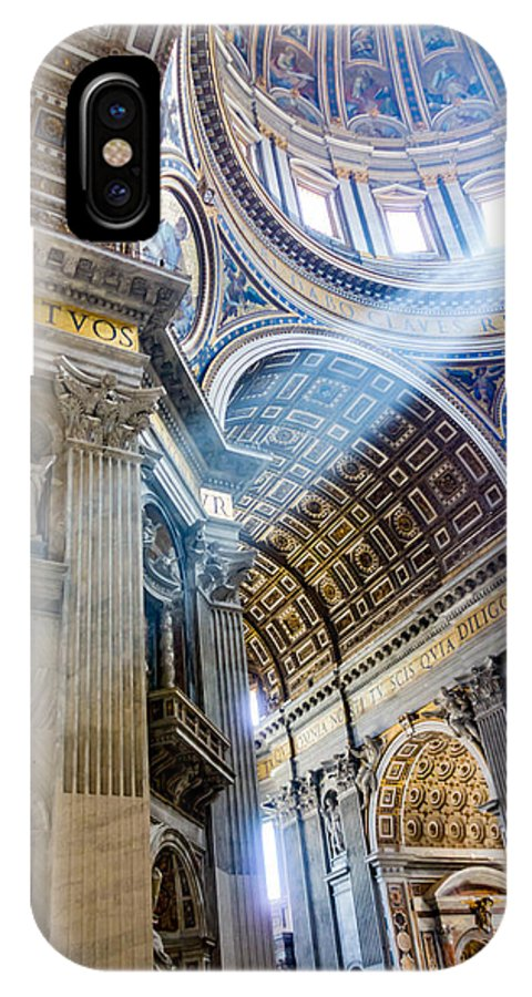 Saint Peter IPhone X Case featuring the photograph Saint Peter's Basilica by Gary Fossaceca