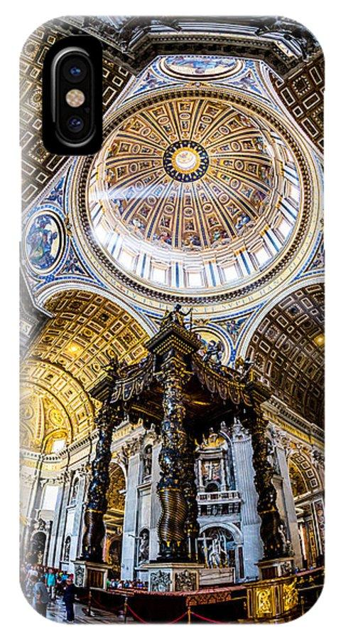 Saint Peter IPhone X Case featuring the photograph Saint Peter's Basilica II by Gary Fossaceca