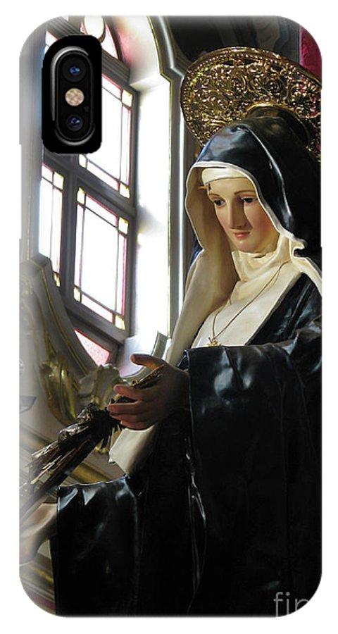 Saint Rita IPhone X Case featuring the digital art Saint Rita by Richard Faenza