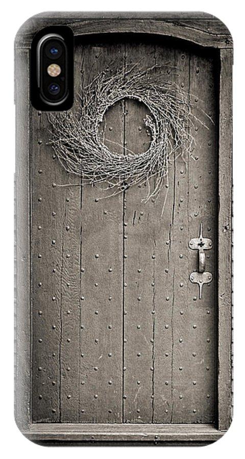 Salem IPhone X Case featuring the photograph Salem Door by Stephen Stookey
