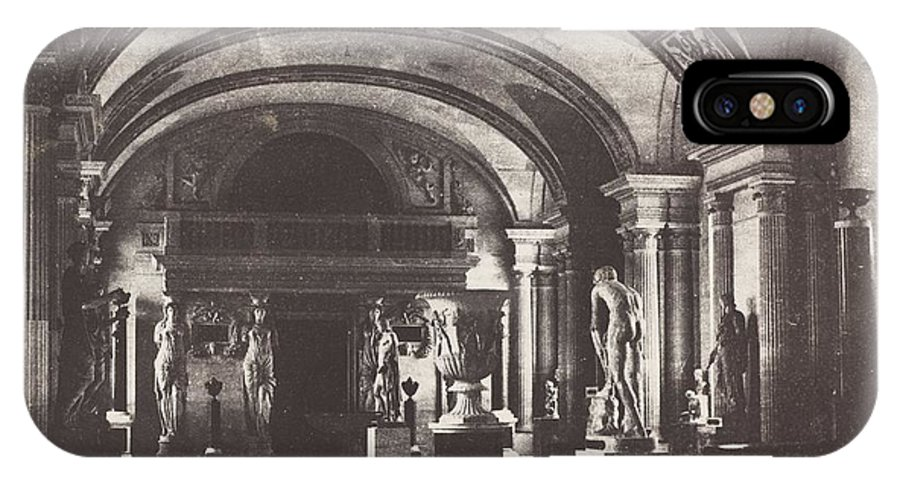 IPhone X Case featuring the photograph Salle Des Cariatides, Au Mus?e Du Louvre by Charles Marville