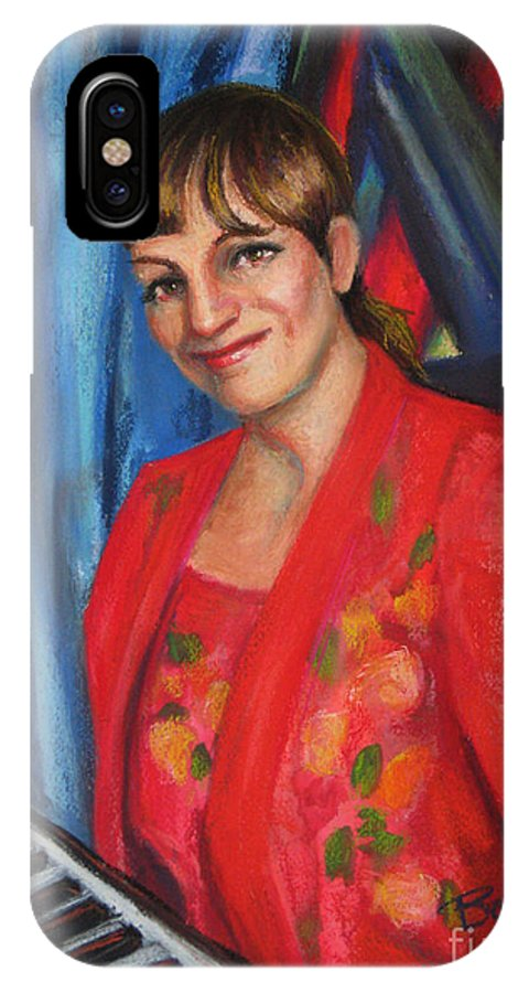 Musician IPhone X Case featuring the painting Sally Ann by Beverly Boulet