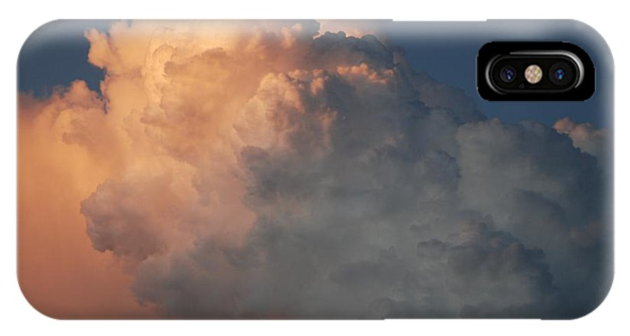 Clouds IPhone X Case featuring the photograph Salmon Sky by Rob Hans