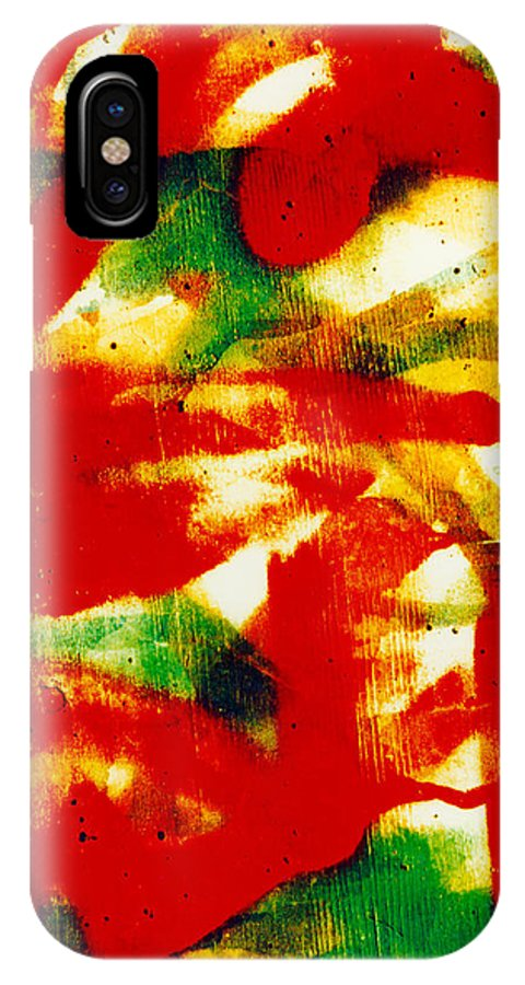 Abstract IPhone X Case featuring the photograph Salsa by David Rivas