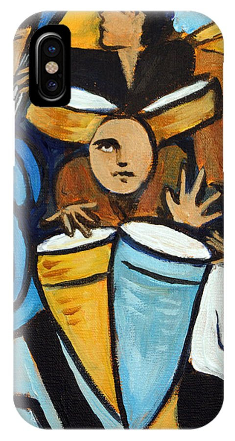 Cubist Salsa Dancers IPhone Case featuring the painting Salsa Night by Valerie Vescovi
