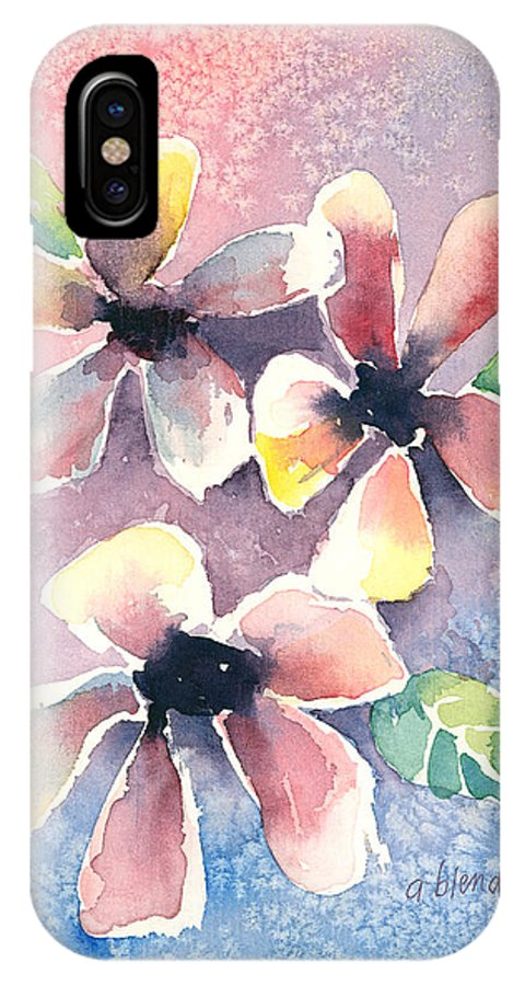 Flowers IPhone X Case featuring the painting Salt Flowers by Arline Wagner