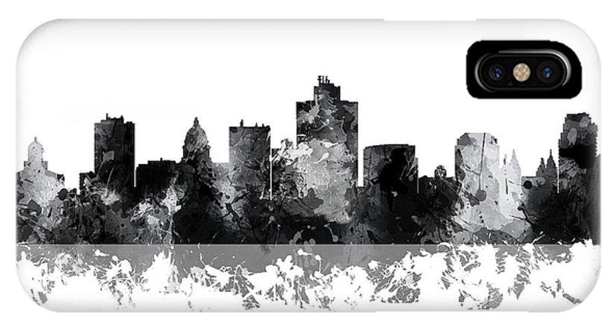 Salt Lake City Utah Skyline IPhone X Case featuring the digital art Salt Lake City Utah Skyline by Marlene Watson