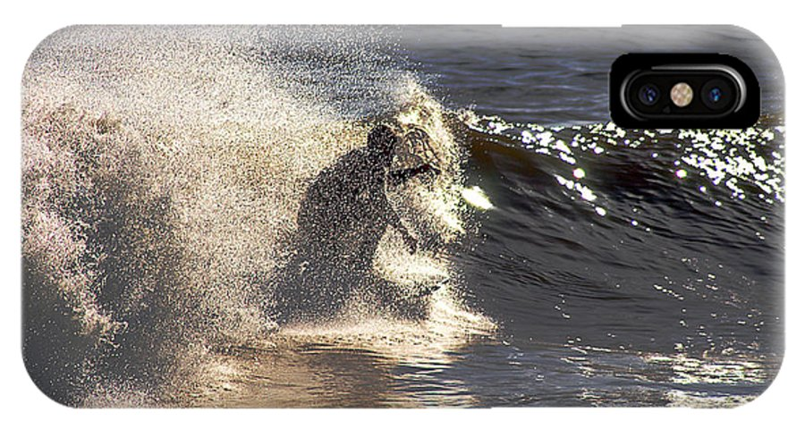 Clay IPhone Case featuring the photograph Salt Spray Surfing by Clayton Bruster