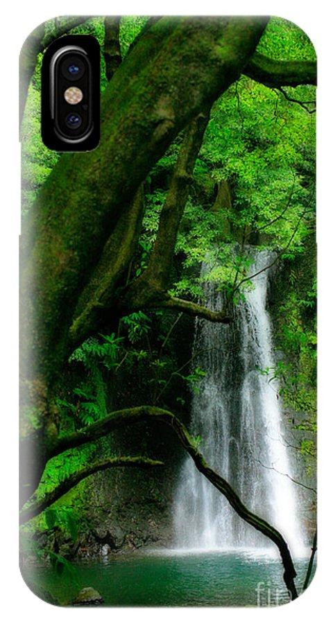 Environment IPhone X Case featuring the photograph Salto Do Prego Waterfall by Gaspar Avila