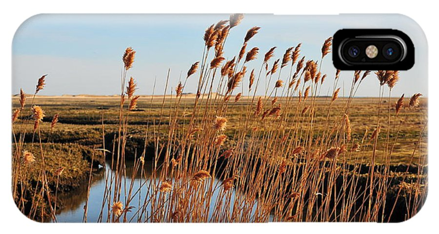 Cape Cod New England Sandwich Beach Marsh Marshland Waterway Waterfront Cove Beach Wildlife Nature Outdoors Coastal Coastline Wetlands Salt Salty Air Dunes IPhone X Case featuring the photograph Salty Air by Catherine Reusch Daley