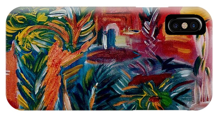 Palms IPhone Case featuring the painting Salvador Da Bahia by Michael Puya
