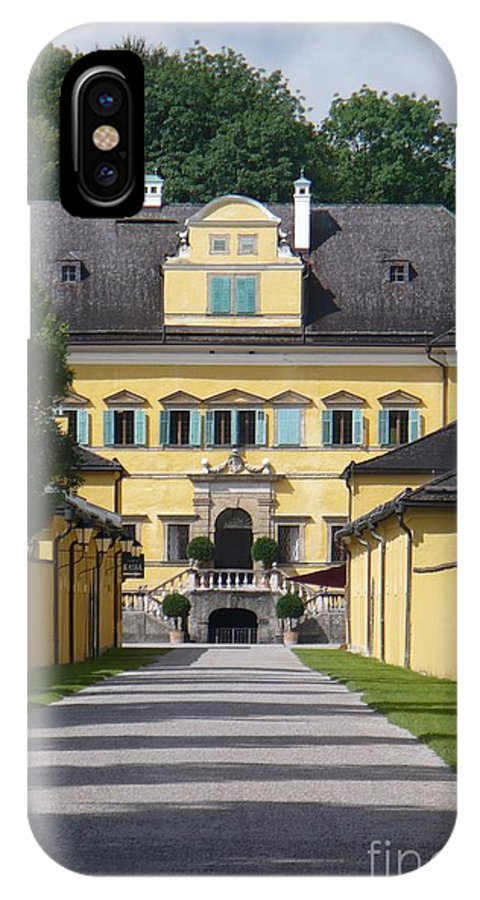 Austria IPhone X Case featuring the photograph Salzburg Chateau by Carol Groenen