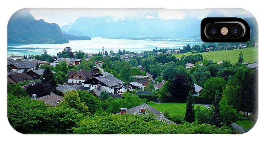 Austria IPhone X Case featuring the photograph Salzburg Lake District by Carol Groenen