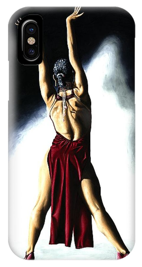 Samba IPhone X Case featuring the painting Samba Celebration by Richard Young
