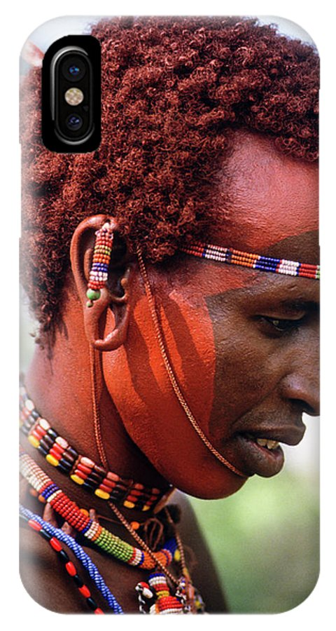 Africa IPhone X Case featuring the photograph Samburu Warrior by Michele Burgess