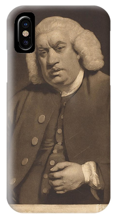 IPhone X Case featuring the drawing Samuel Johnson by William Doughty After Sir Joshua Reynolds
