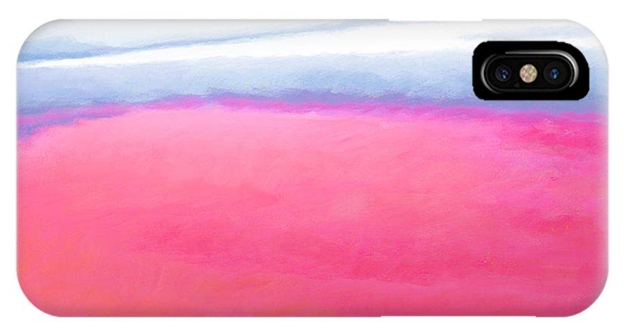 San Blas IPhone X Case featuring the painting San Blas Sunrise by Angela Treat Lyon