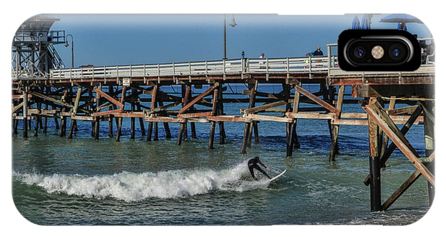 Warf IPhone X Case featuring the photograph San Clemente Surfing by Tommy Anderson
