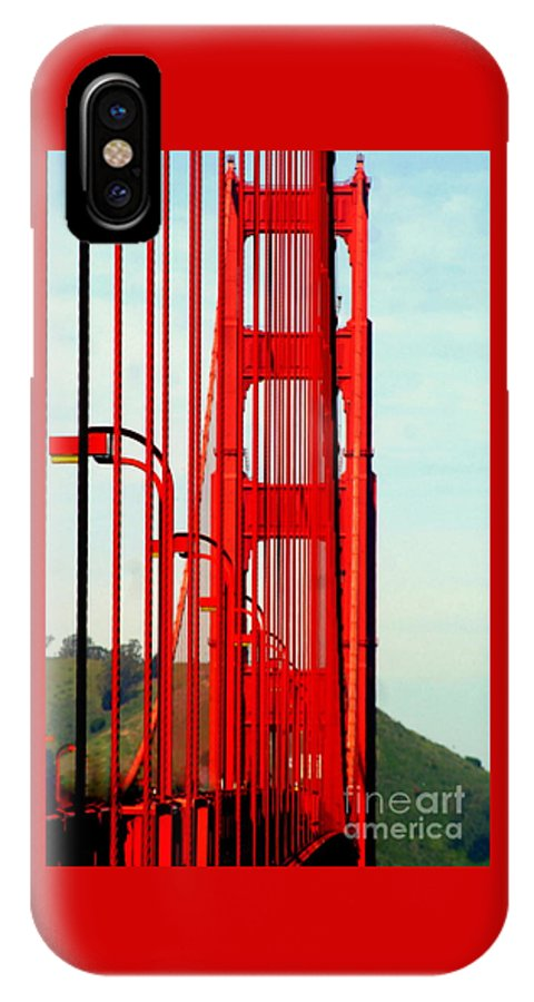 America IPhone X Case featuring the photograph San Francisco Golden Gate Bridge Symphony In California by Michael Hoard