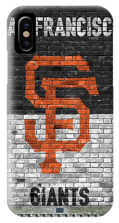 Giants IPhone X Case featuring the painting San Francisco Giants Brick Wall by Joe Hamilton