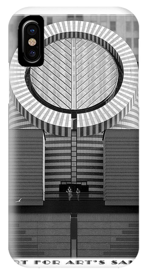 San Francisco IPhone X / XS Case featuring the photograph San Francisco Museum Of Modern Art by Mike McGlothlen