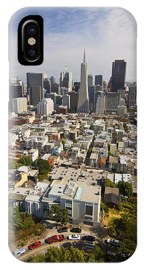 San Francisco Skyline IPhone Case featuring the photograph San Francisco Skyline by Sven Brogren