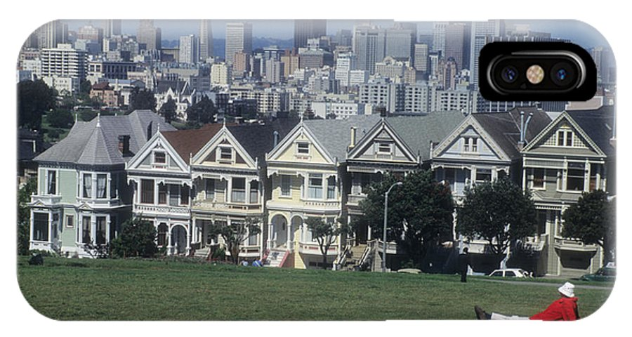 Alamo Square IPhone X Case featuring the photograph San Francisco Summer by Carl Purcell