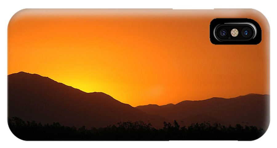 Sunset IPhone X Case featuring the photograph San Jacinto Dusk Near Palm Springs by Michael Ziegler