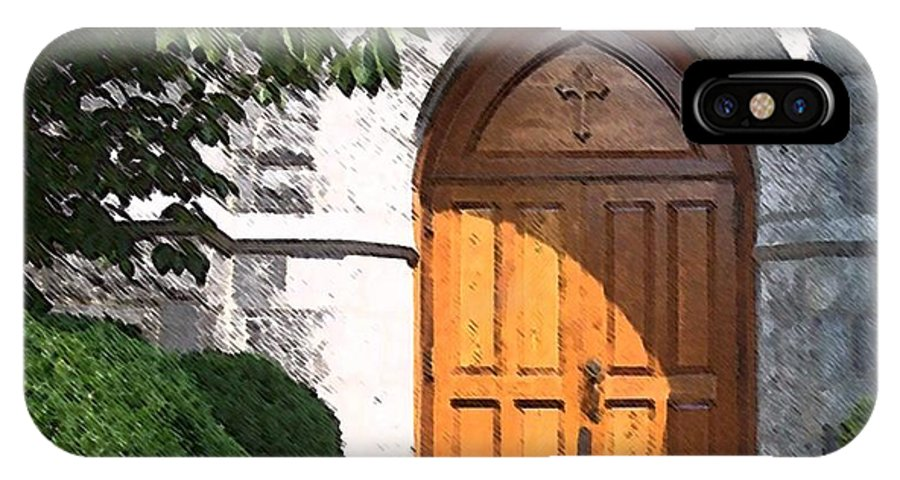 Church IPhone X Case featuring the photograph Sanctuary by Debbi Granruth