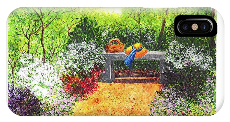 Garden Painting IPhone X Case featuring the painting Sanctuary by Patricia Griffin Brett