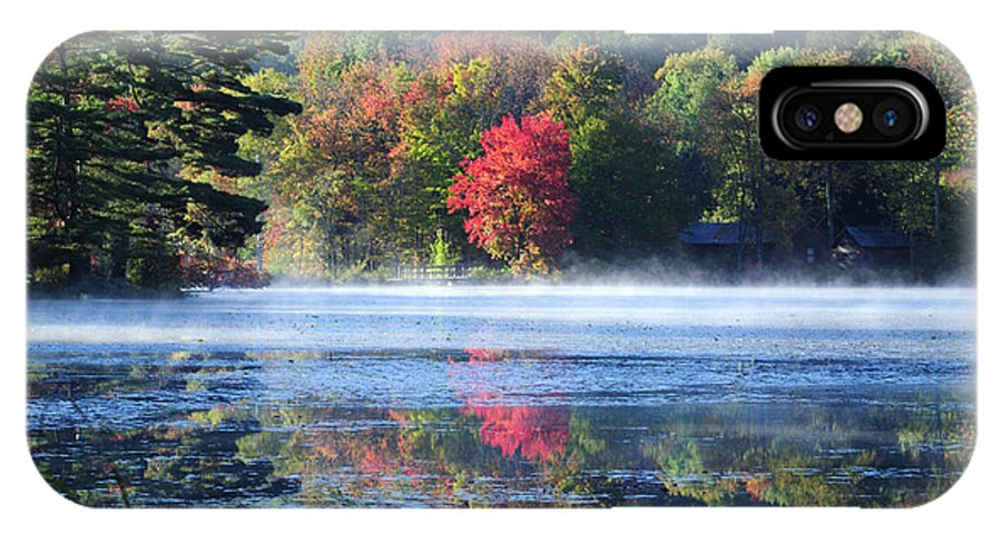 Fall Foliage IPhone X Case featuring the photograph Sanctuary by Tom Heeter