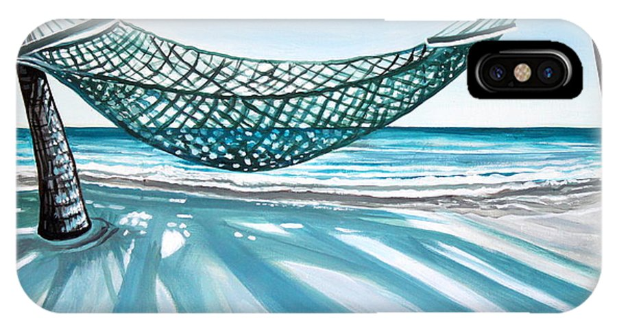 Landscape IPhone X Case featuring the painting Sand And Shadows by Elizabeth Robinette Tyndall