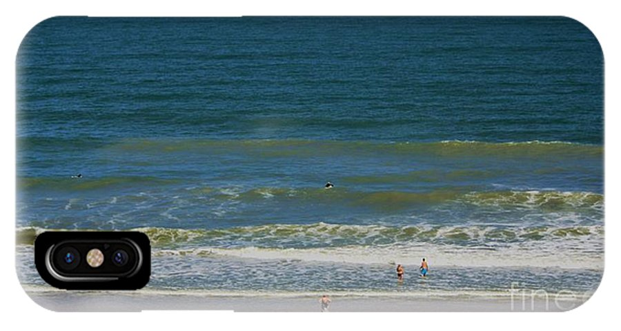 Sand And Surf IPhone X Case featuring the photograph Sand And Surf by Patti Whitten