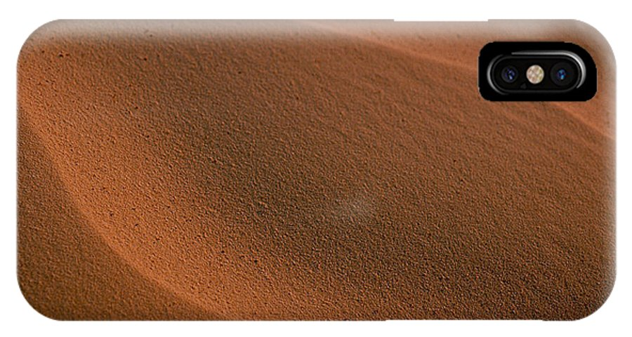 Shara IPhone X Case featuring the photograph Sand Curves by Michael Mogensen