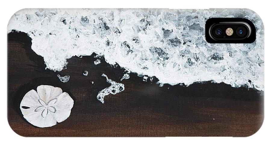 Darice Machel Mcguire IPhone X Case featuring the painting Sand Dollar by Darice Machel McGuire