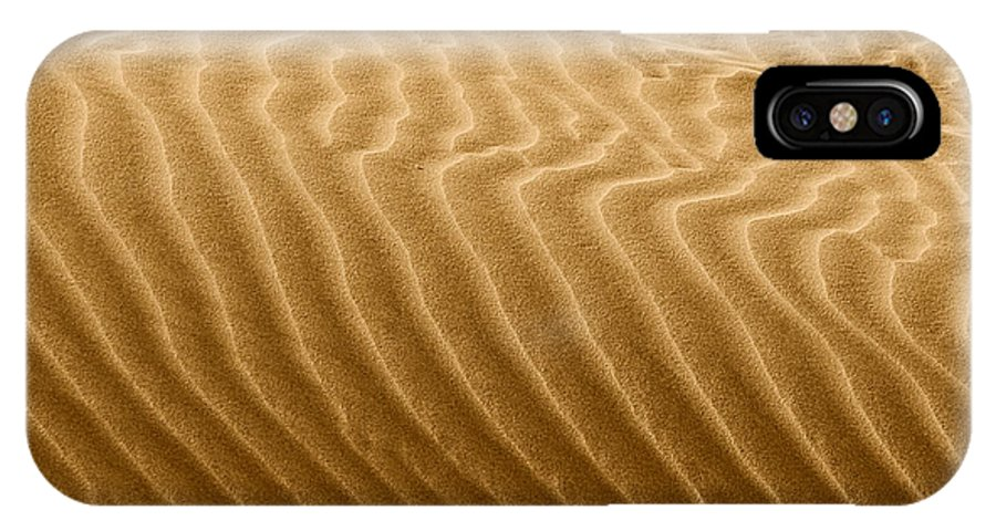 Sand IPhone X Case featuring the photograph Sand Dune Mojave Desert California by Christine Till