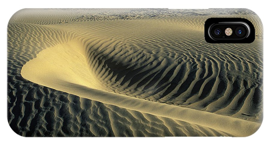 Death IPhone X Case featuring the photograph Sand Ripples by Jim And Emily Bush