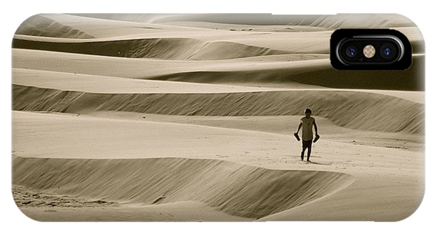 Scenic IPhone X Case featuring the photograph Sand Walker by Mark Lemon