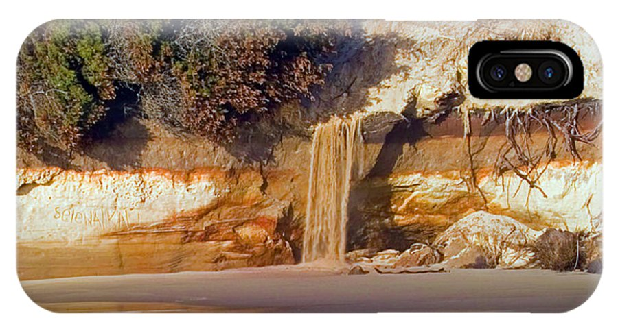 Unique IPhone X Case featuring the photograph Sandfall II by Randall Ingalls