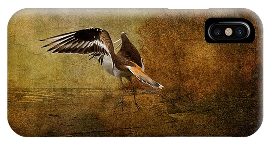 Sandpiper IPhone X Case featuring the photograph Sandpiper Piping by Lois Bryan