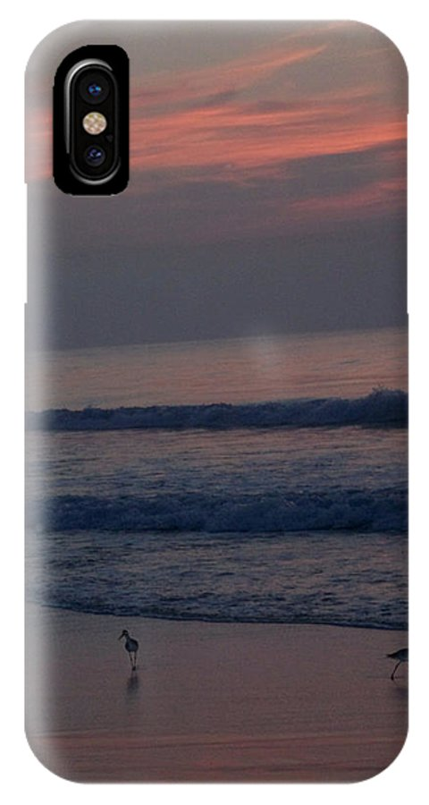 Birds IPhone X Case featuring the photograph Sandpipers On The Beach by Janet Pugh