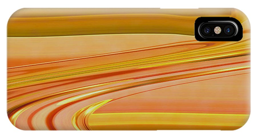 Sunset Art IPhone X Case featuring the digital art Sands Of Time by Linda Sannuti