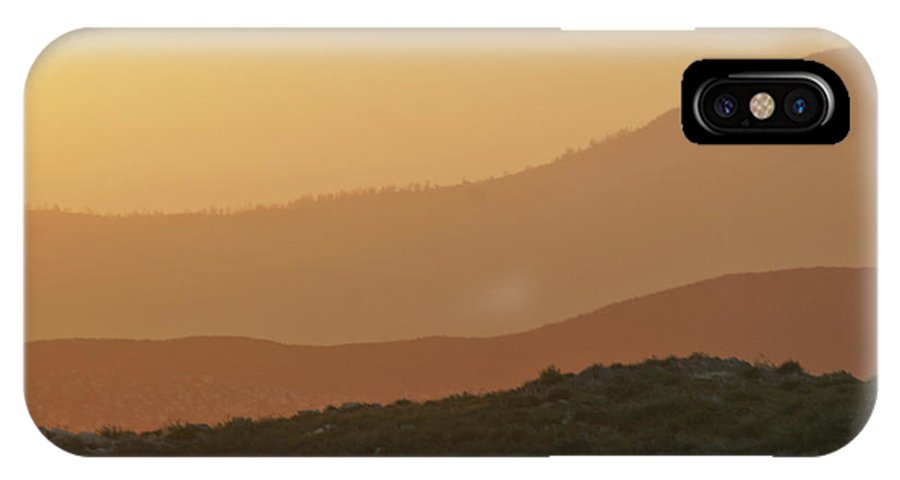 Sandstorm IPhone X Case featuring the photograph Sandstorm During Sunset On Old Highway Route 80 by Christine Till
