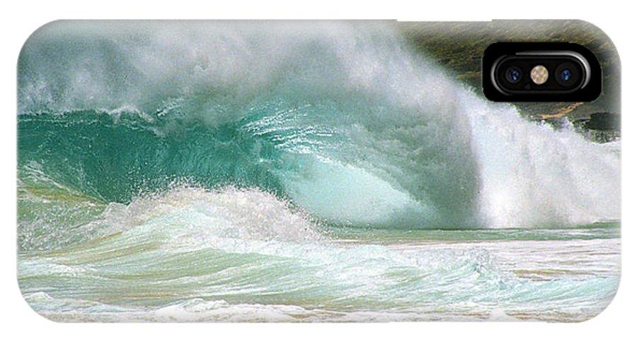 Beach Break IPhone X Case featuring the photograph Sandy Beach Shorebreak by Kevin Smith