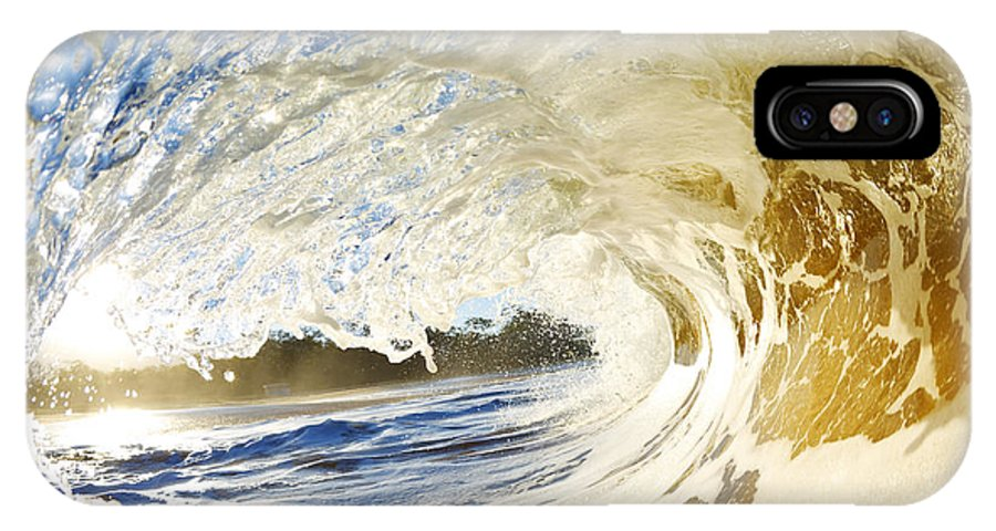 Amazing IPhone X Case featuring the photograph Sandy Wave Barrel by MakenaStockMedia - Printscapes