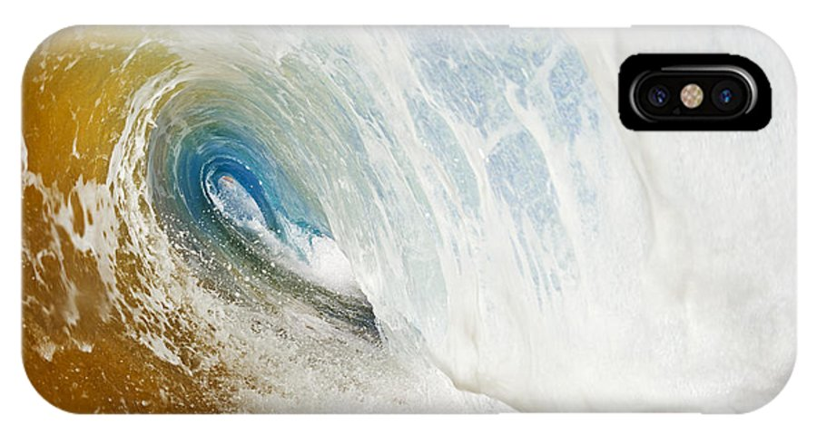 Amazing IPhone X Case featuring the photograph Sandy Wave Tube by MakenaStockMedia