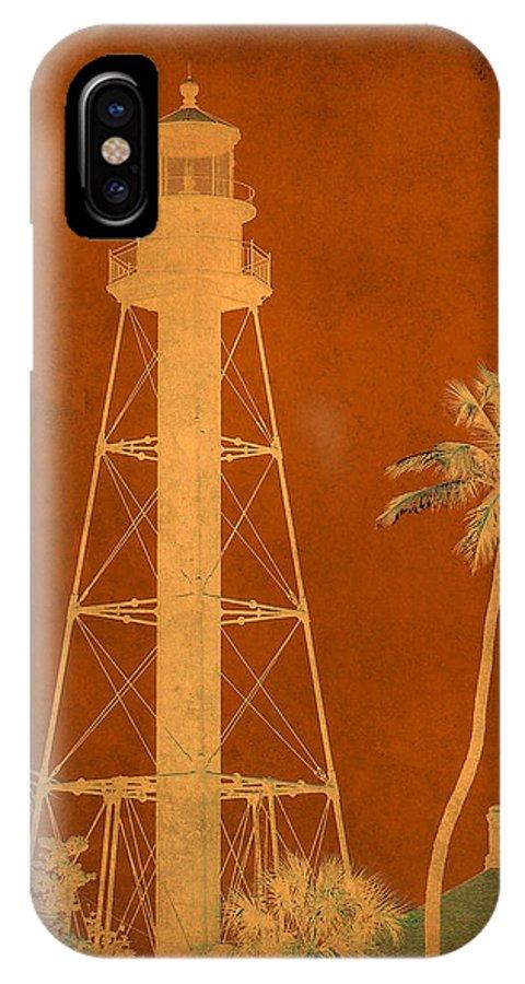 Sanibel IPhone X / XS Case featuring the photograph Sanibel Island Lighthouse by Trish Tritz