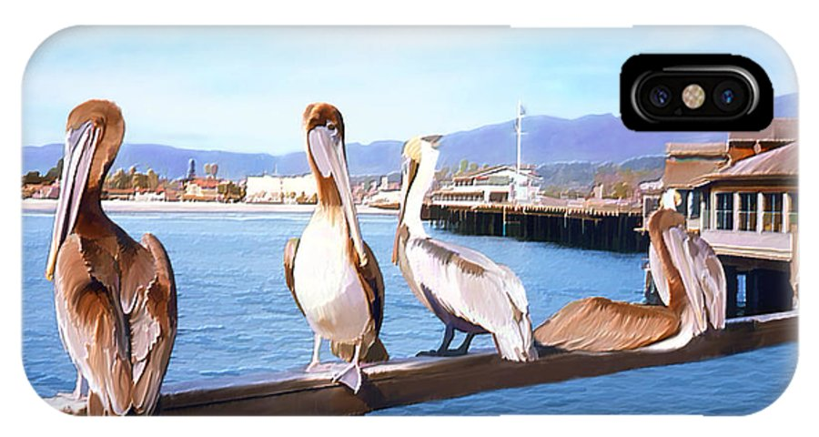 Harbor IPhone X Case featuring the photograph Santa Barbara Pelicans by Kurt Van Wagner