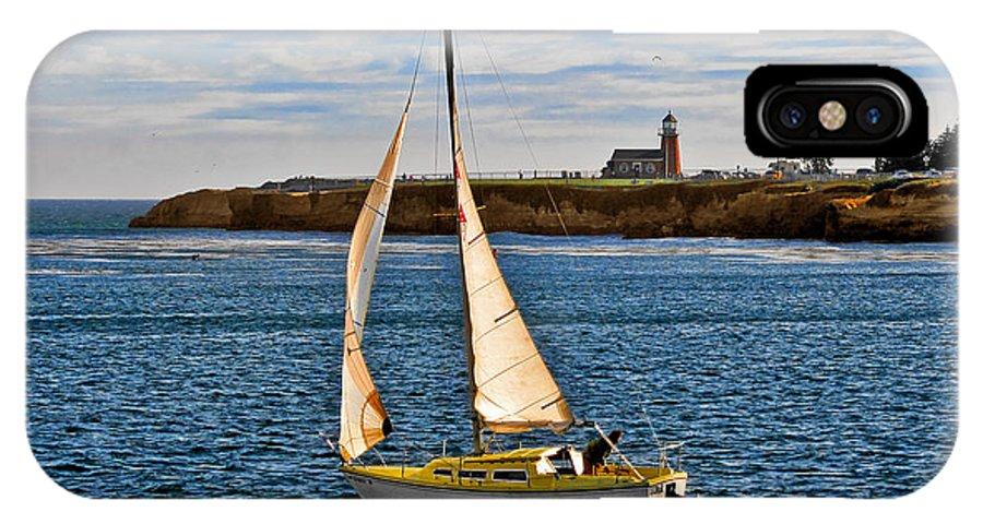 Mark Abbot Memorial Lighthouse IPhone X Case featuring the photograph Santa Cruz Mark Abbott Memorial Lighthouse Ca by Christine Till